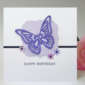 Butterfly design Birthday Card