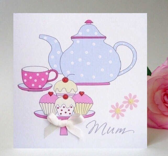 Mother's Day, Mum Card - Afternoon Tea