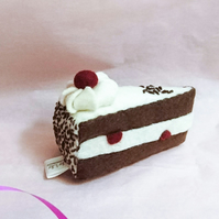 Pin cushion, keepsake, handsewn, Black Forest Gateaux