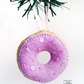 Purple Iced doughnut hanging decoration, Free delivery