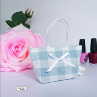Lavender Bag, Duck egg gingham, Handmade scented bag - Free delivery