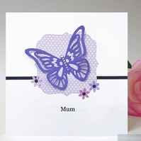 Butterfly design Mother's Day Card