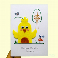 Easter Card, Finger puppet Easter Chick
