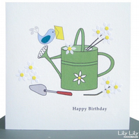 Birthday Card - Garden Watering can