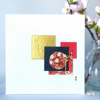 All Occasion Blank Card, Japanese inspired collage