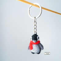 Baby penguin keyring, bagcharm, keycharm by Lily Lily Handmade