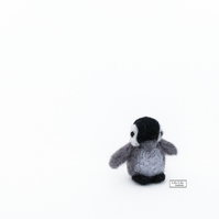 Miniature baby penguin needle felted mascot by Lily Lily Handmade