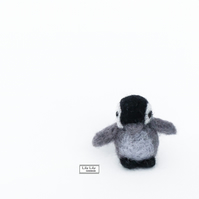 Dylan, Miniature baby penguin needle felted by Lily Lily Handmade