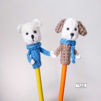 Set of 2 animal pencil toppers, Handmade by Lily Lily Handmade
