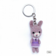 —SALE— Melissa Rabbit keyring, bagcharm, keycharm by Lily Lily Handmade —SALE—