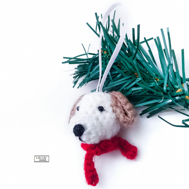 Dog hanging decoration, Harry, Handmade by Lily Lily Handmade