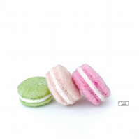 Set of three needle felted french macarons by Lily Lily Handmade