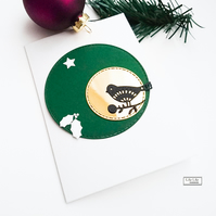 Set of 3 Christmas Cards, Moon Bird silhouette, handmade by Lily Lily Handmade