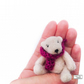 Miniature Teddy Bear, Cream, needle felted by Lily Lily Handmade