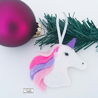 Unicorn hanging decoration by Lily Lily Handmade