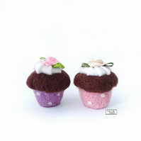 Miniature cupcakes needle felted by Lily Lily Handmade
