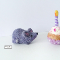 Gabriel, Grey Mouse, needle felted by Lily Lily Handmade (U.K. postage included)