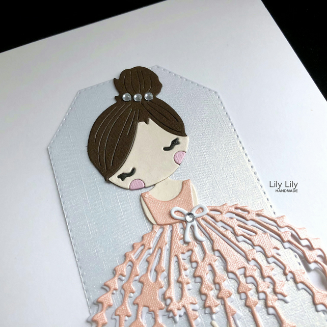 Bridesmaid or Flowergirl card by Lily Lily Handmade