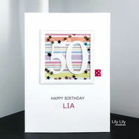 40th, 50th, 60th, 70th birthday card by Lily Lily Handmade