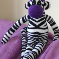 Zebra Print Sock Monkee