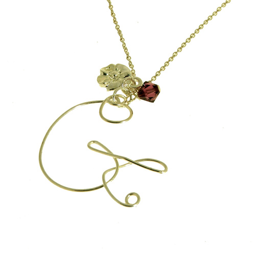 letter 'G' charm necklace