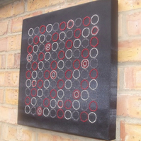 Beaded canvas board 'circles'
