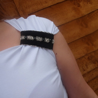 Beaded band maid-of-fabric, cuff. Free uk delivery.