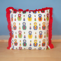 Frill's Russian Doll Cushion maid-of-fabric. Free uk delivery.