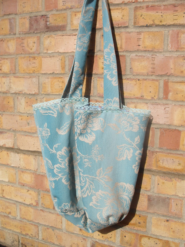 Green and Sand Tote Bag