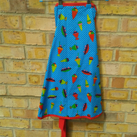 SALE Kids Ice cream sundae full apron maid-of-fabric.
