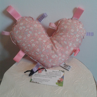 SALE Taggy Heart Mini Cushion. Free uk delivery.