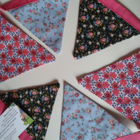 Floral Bunting maid-of-fabric.