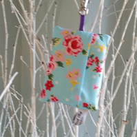 Bag for life keyring holder bag charm in blue floral