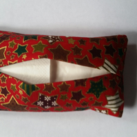 Red stars tissue holder
