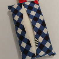 SALE Tissue holder keyring in cup cake fabric. Free uk delivery.