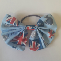 Hair bobble bow in Queen theme fabric