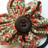 Flower hair bobble