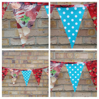Party bunting made in pvc. Free uk delivery.