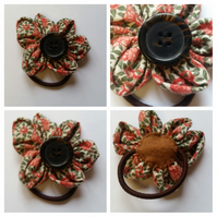 Flower hair bobble - band. Free uk delivery.