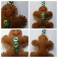Gingerbread man Christmas tree decoration. Free uk delivery.
