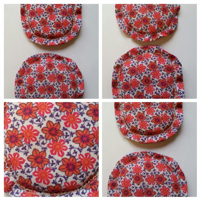 Hand warmers rice filled,  microwavable - retro floral