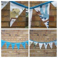 Dinosaur bunting in blue