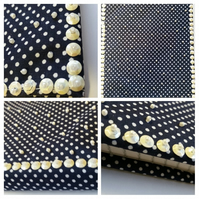 Notebook with beaded polkadot cover