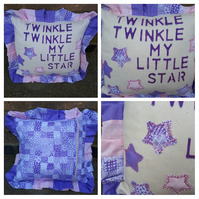 Cushion with frills - twinkle twinkle