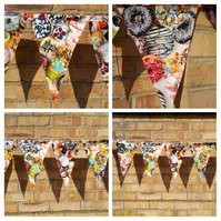 Bunting in pvc cup cakes and doughnuts