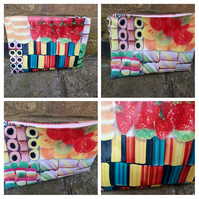 Pencil case in sweets pvc.