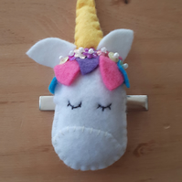 Unicorn hair slide clip, free uk delivery.