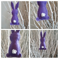 Easter bunny purple hanging decoration.