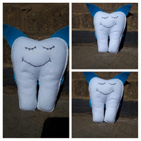 Tooth fairy helper with blue wings. Free uk delivery.