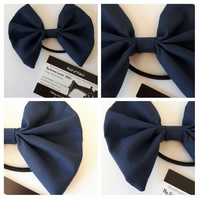Hair bow bobble in navy fabric. 3 for 2 offer.